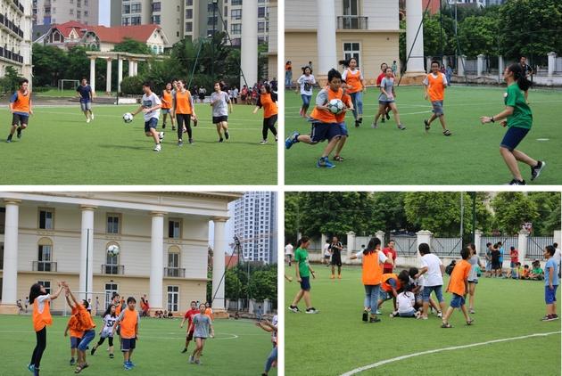 Học sinh Alpha chơi bóng ném