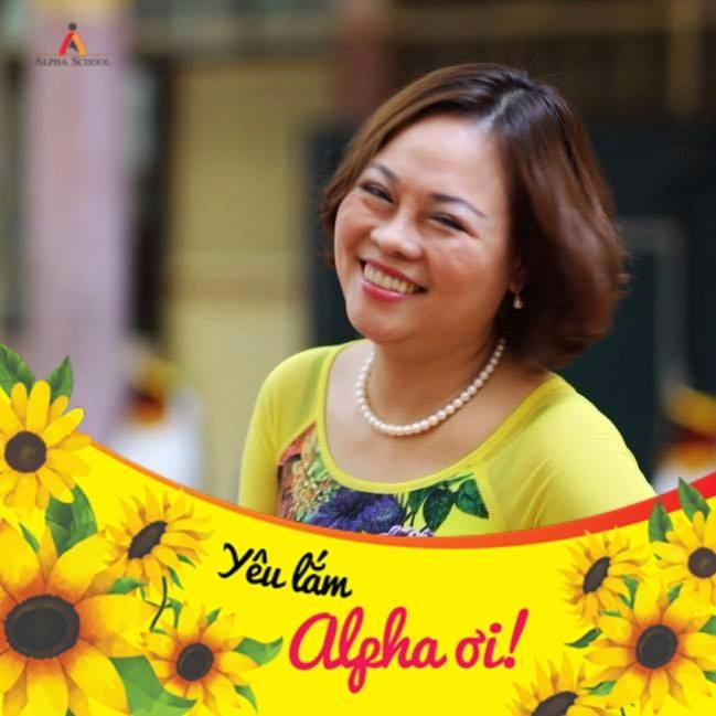 Chị Nguyễn Trần Thu Hằng, mẹ học sinh Nguyễn Trần Trâm Anh lớp 9A3